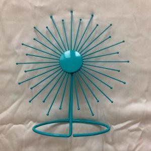 Turquoise starburst photo frame